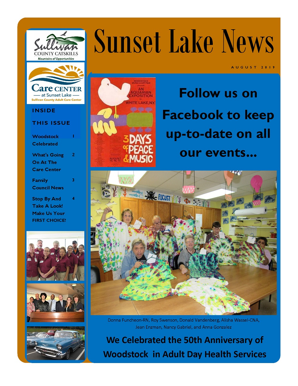 August 2019 Sunset Lake News