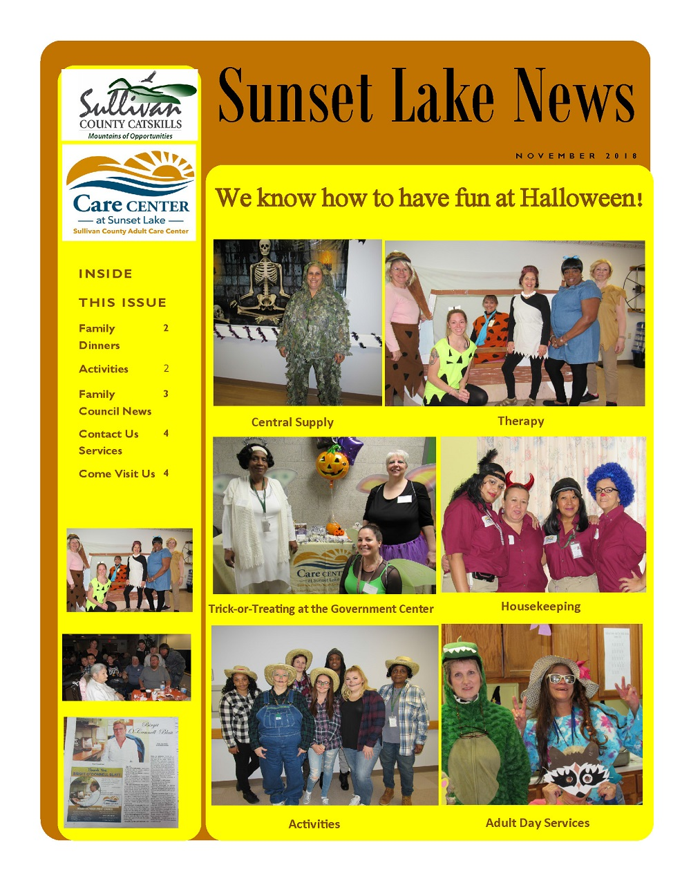 November 2018 Sunset Lake News