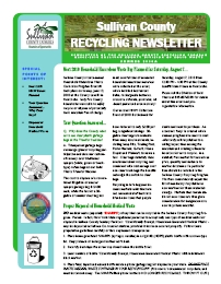 Sample of recycling newsletter