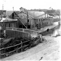 Delaware and Hudson Canal Scene in the 1850s