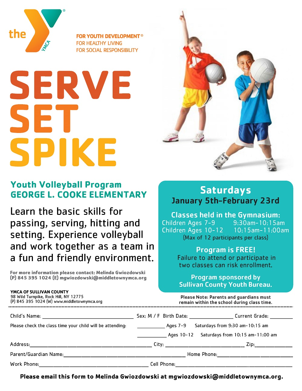 YMCA Volleyball for Kids