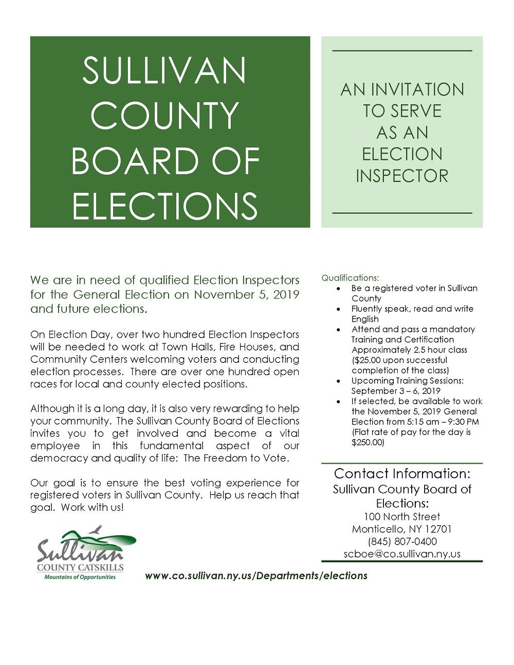 Board of Elections | Sullivan County NY