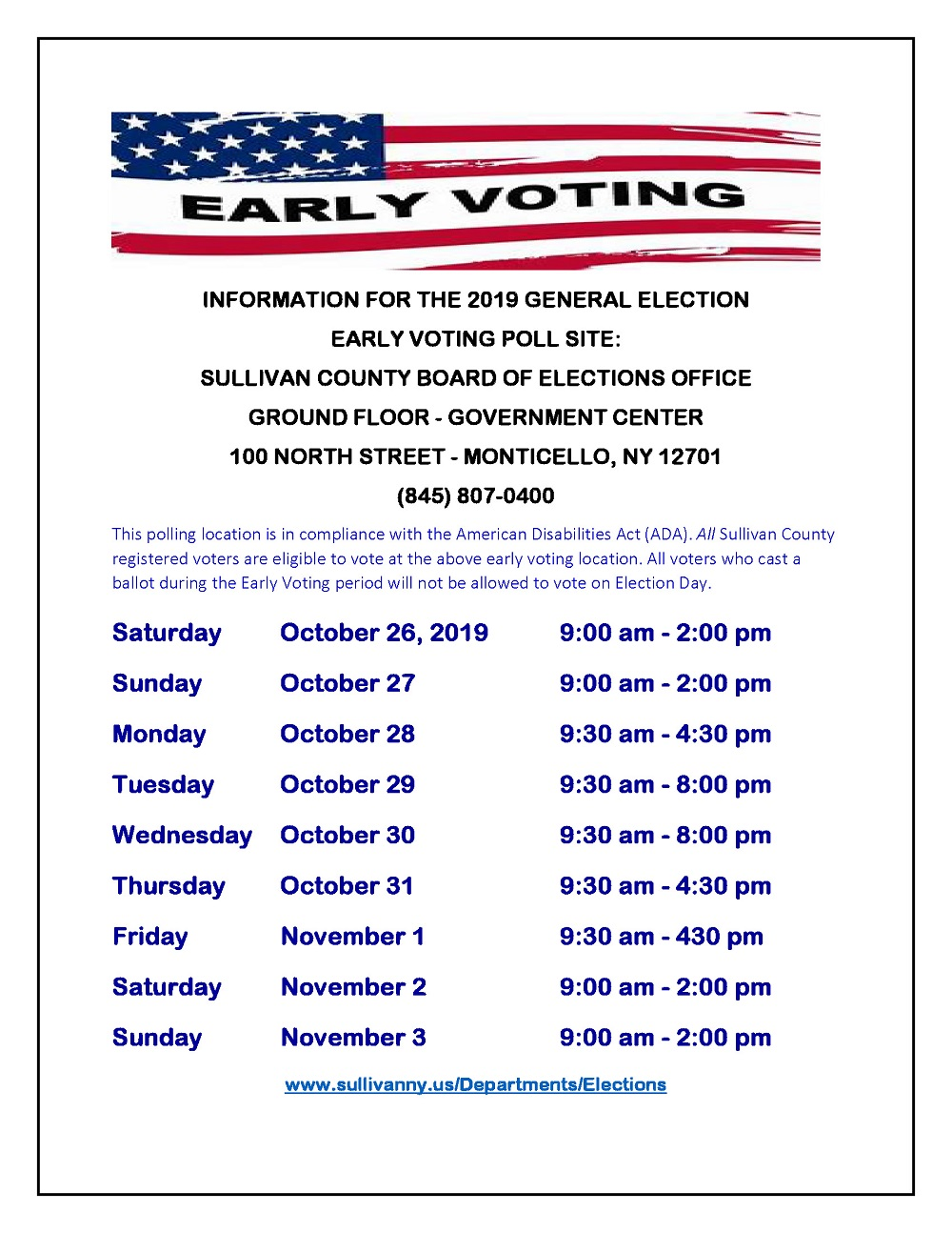 Early Voting Flyer 2019