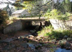 The culvert to be replaced in Eldred