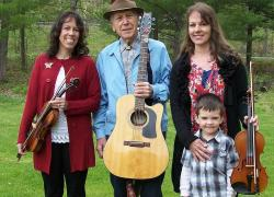 The Kurpil Family Fiddlers include, from the left, Christina Jones, Sam Kurpil and Cindy Gieger