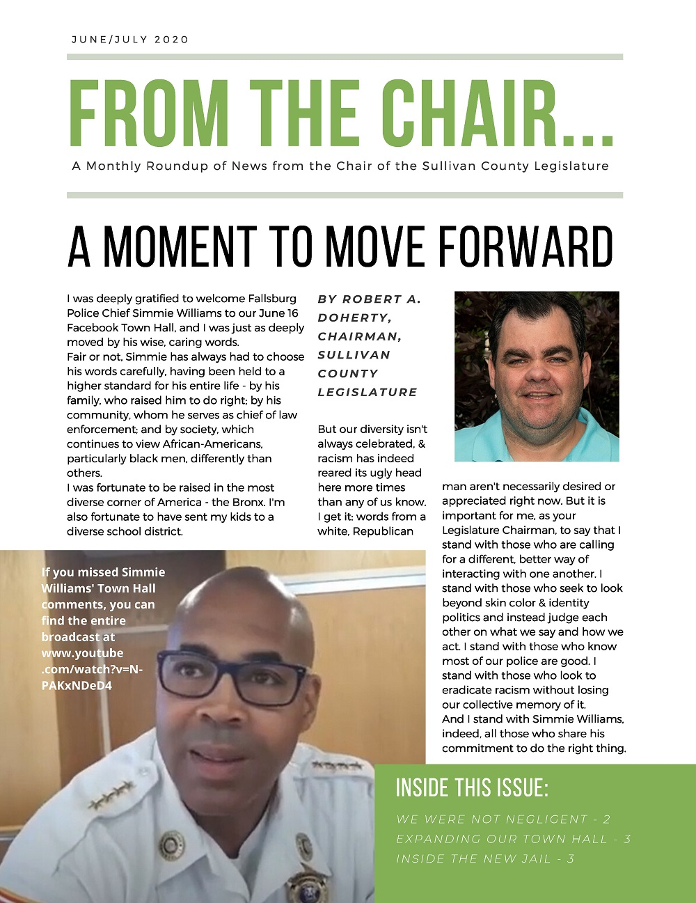 From the Chair Newsletter, June/July 2020
