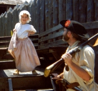 People portraying settlers in Fort Delaware