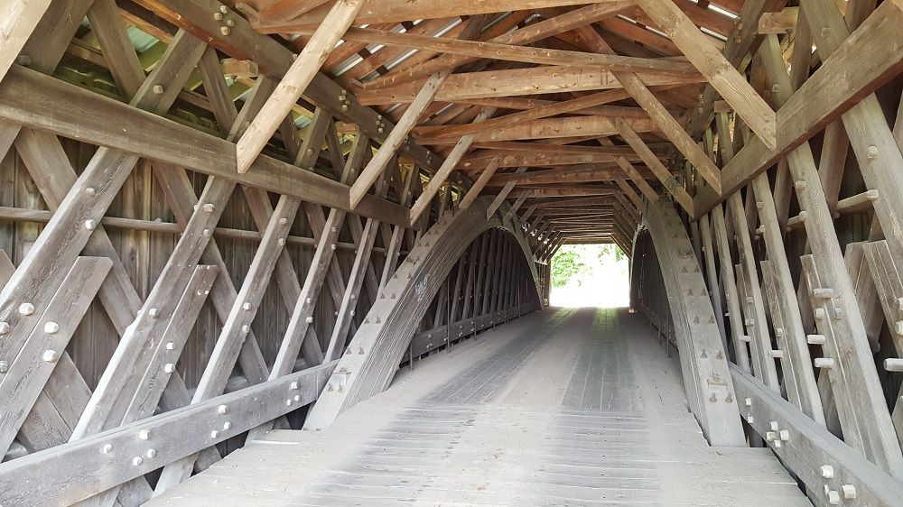 Livingston Manor Covered Bridge Interior