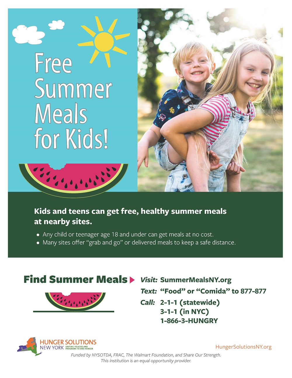 Free Summer Meals Poster