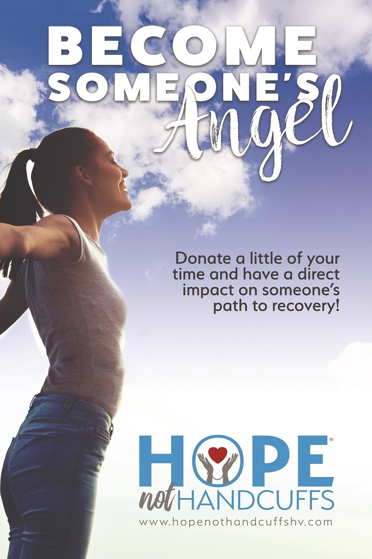 Hope, Not Handcuffs Volunteer Poster